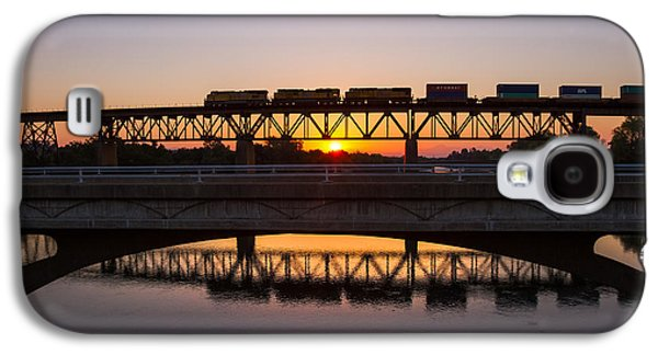 Transportation Photographs Galaxy S4 Cases - Crossing Paths Galaxy S4 Case by Randy Wood