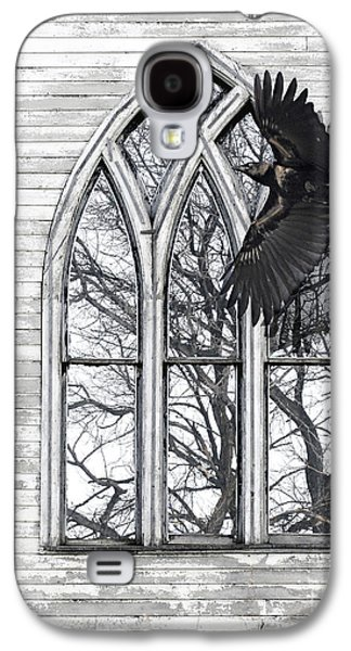 Judy Wood Galaxy S4 Cases - Crow Church Galaxy S4 Case by Judy Wood
