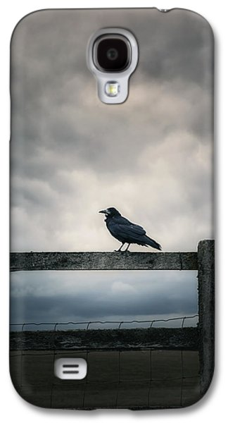 Creepy Galaxy S4 Cases - Crow Galaxy S4 Case by Joana Kruse