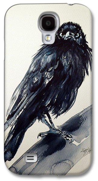 Crows Paintings Galaxy S4 Cases - Crow Galaxy S4 Case by Kovacs Anna Brigitta