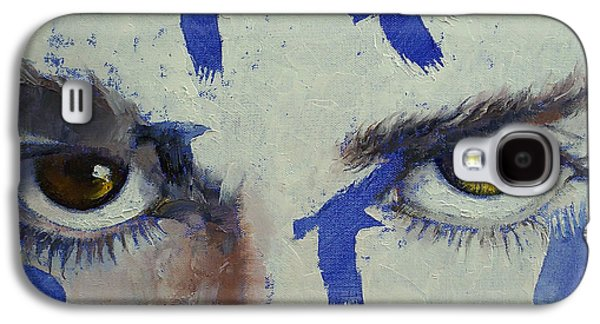 Crows Paintings Galaxy S4 Cases - Crow Galaxy S4 Case by Michael Creese