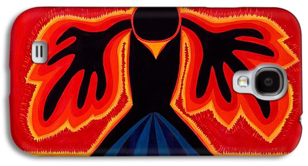Native American Spirit Portrait Paintings Galaxy S4 Cases - Crow Rising original painting Galaxy S4 Case by Sol Luckman