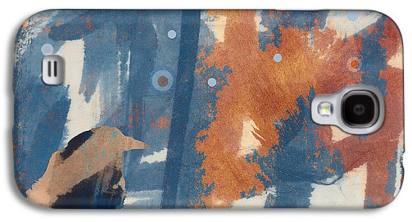 Snowy Digital Art Galaxy S4 Cases - Crow Snow Galaxy S4 Case by Carol Leigh