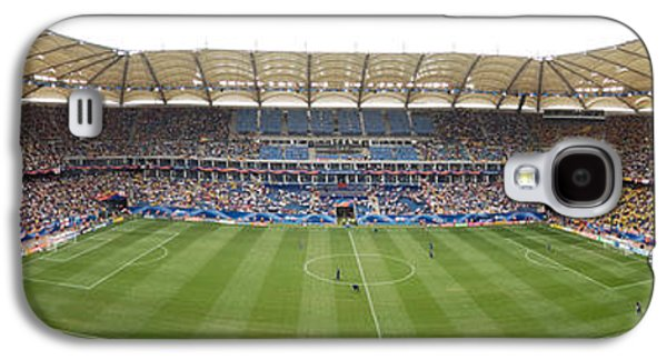 Soccer Photographs Galaxy S4 Cases - Crowd In A Stadium To Watch A Soccer Galaxy S4 Case by Panoramic Images