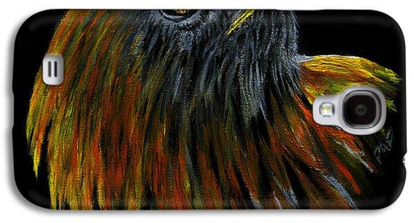 Yellow Beak Paintings Galaxy S4 Cases - Crowhawk Original Galaxy S4 Case by Peter Piatt