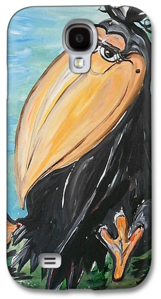 Youthful Mixed Media Galaxy S4 Cases - Just CROWS FEET ... Not Wrinkles Galaxy S4 Case by Eloise Schneider