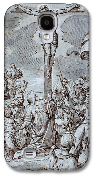 Worship Drawings Galaxy S4 Cases - Crucifixion Galaxy S4 Case by Johann or Hans von Aachen