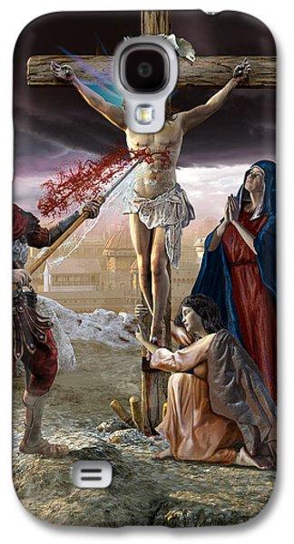 Crucifixion-divine Mercy Galaxy S4 Case by Kurt Miller