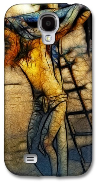 Ray Downing Galaxy S4 Cases - Crucifixion - Stained Glass Galaxy S4 Case by Ray Downing