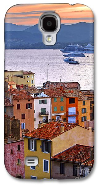 Transportation Photographs Galaxy S4 Cases - Cruise ships at St.Tropez Galaxy S4 Case by Elena Elisseeva