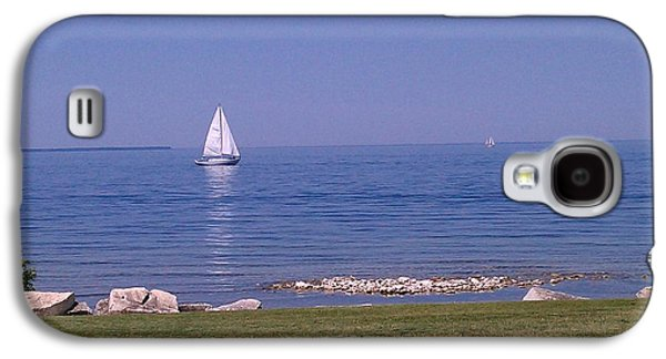 A Hot Summer Day Galaxy S4 Cases - cruisin down the Bay on a Sunday afternoon Galaxy S4 Case by Dawn Koepp