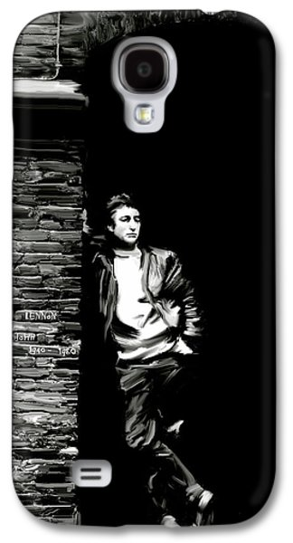 John Lennon Paintings Galaxy S4 Cases - Cry For A Shadow III JOHN LENNON Galaxy S4 Case by Iconic Images Art Gallery David Pucciarelli