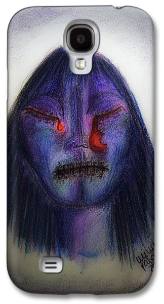 Crying Drawings Galaxy S4 Cases - Cry Me A Moon Galaxy S4 Case by Mimulux patricia no