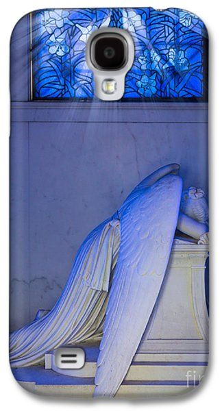 Cemetary Galaxy S4 Cases - Crying Angel Galaxy S4 Case by Inge Johnsson