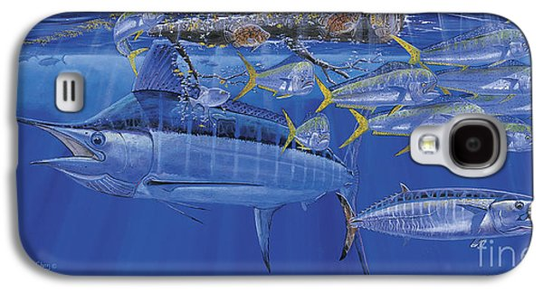 Sharks Paintings Galaxy S4 Cases - Crystal Blue Off00100 Galaxy S4 Case by Carey Chen