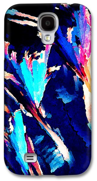 Blue Abstracts Galaxy S4 Cases - Crystal C Abstract Galaxy S4 Case by Bill Caldwell -        ABeautifulSky Photography
