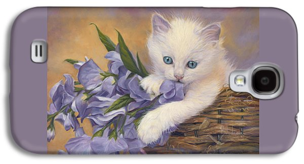 Orange Tabby Paintings Galaxy S4 Cases - Crystal Eyes Galaxy S4 Case by Lucie Bilodeau