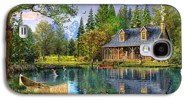 Cottage Galaxy S4 Cases - Crystal Lake Cabin Galaxy S4 Case by Dominic Davison