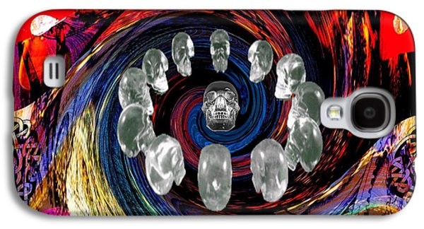 Political Allegory Galaxy S4 Cases - Crystal Skulls Galaxy S4 Case by Jason Saunders