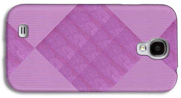 Graphic Jewelry Galaxy S4 Cases - Crystal Tiles over Crystal base Theme Pink background Graphic   36x12 Horizontal Landscape Energy Gr Galaxy S4 Case by Navin Joshi