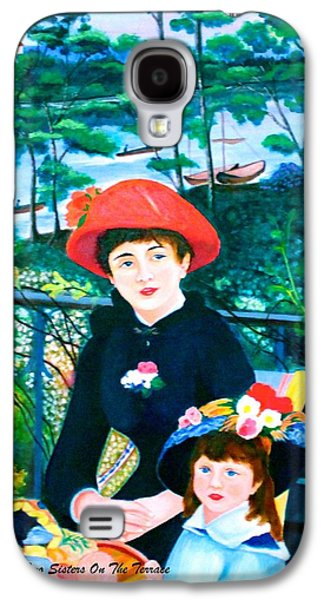 Canoe Mixed Media Galaxy S4 Cases - Csm and Lldm Version of Renoirs Two Sisters on the Terrace Galaxy S4 Case by Lorna Maza