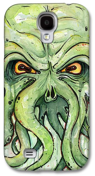 Scary Galaxy S4 Cases - Cthulhu Watercolor Galaxy S4 Case by Olga Shvartsur