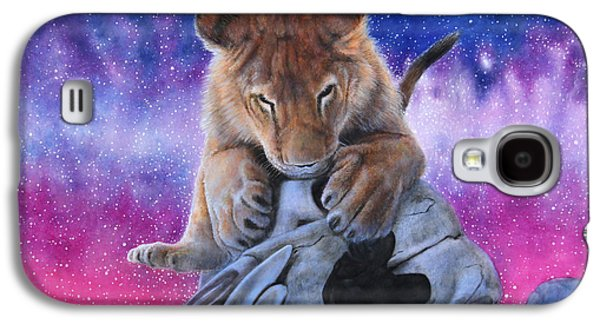 Milky Way Paintings Galaxy S4 Cases - Cub and Skull Galaxy S4 Case by David Starr