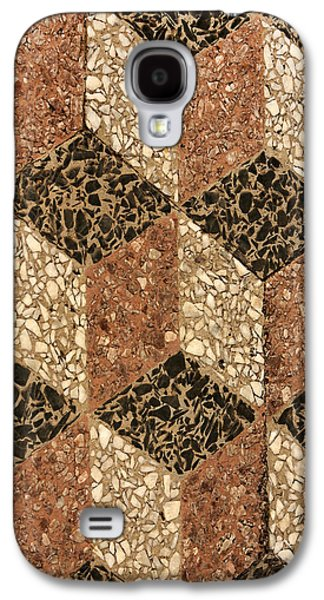 Marble Eye Galaxy S4 Cases - Cube Patterns Galaxy S4 Case by Art Block Collections