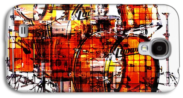 Abstract Movement Mixed Media Galaxy S4 Cases - Cubist Drums Galaxy S4 Case by Russell Pierce