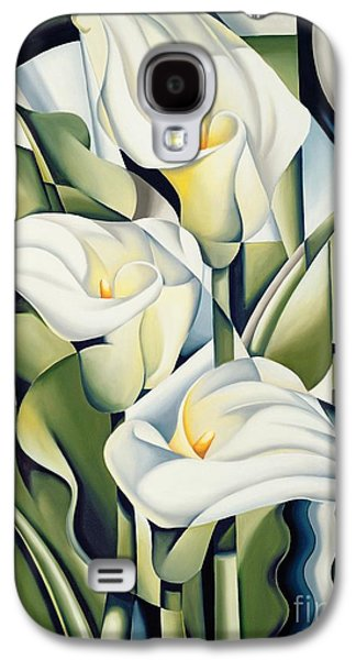 Cubist Lilies Galaxy S4 Case by Catherine Abel