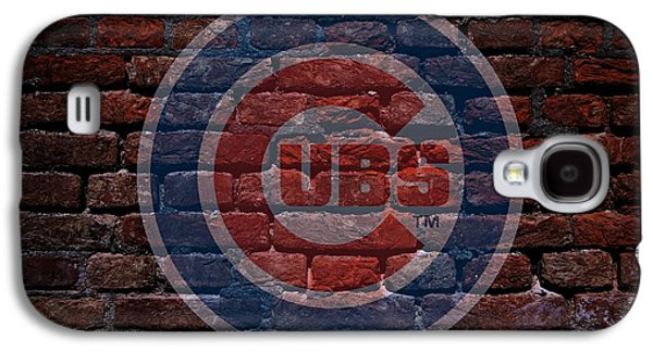 Illinois Print Digital Art Galaxy S4 Cases - Cubs Baseball Graffiti on Brick  Galaxy S4 Case by Movie Poster Prints