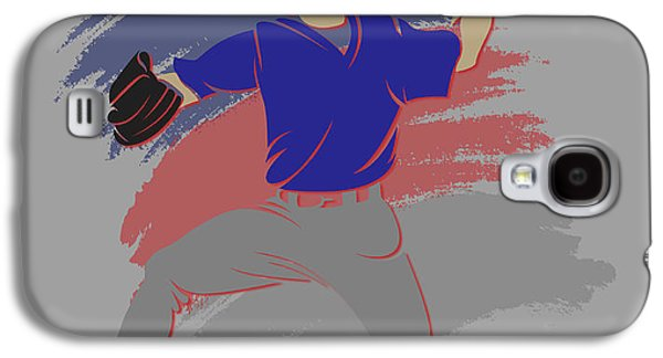 Chicago Cubs Galaxy S4 Cases - Cubs Shadow Player Galaxy S4 Case by Joe Hamilton
