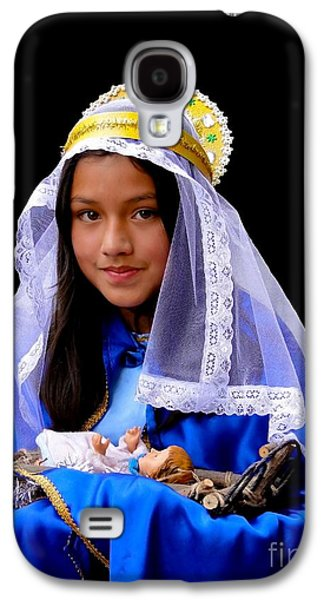 Smiling Jesus Galaxy S4 Cases - Cuenca Kids 331 Galaxy S4 Case by Al Bourassa