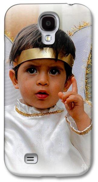Smiling Jesus Galaxy S4 Cases - Cuenca Kids 332 Galaxy S4 Case by Al Bourassa