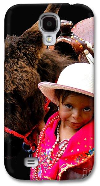Smiling Jesus Galaxy S4 Cases - Cuenca Kids 375 Galaxy S4 Case by Al Bourassa