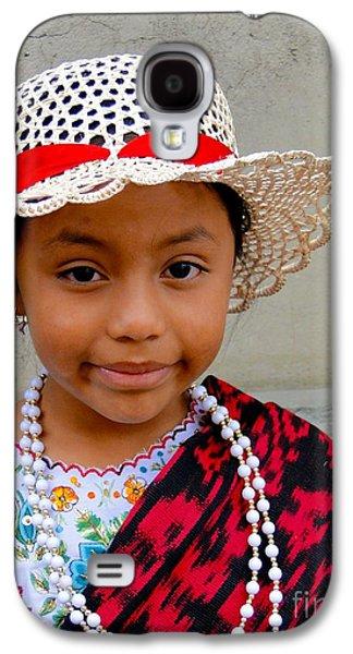 Smiling Jesus Galaxy S4 Cases - Cuenca Kids 384 Galaxy S4 Case by Al Bourassa