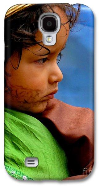 Smiling Jesus Galaxy S4 Cases - Cuenca Kids 390 Galaxy S4 Case by Al Bourassa