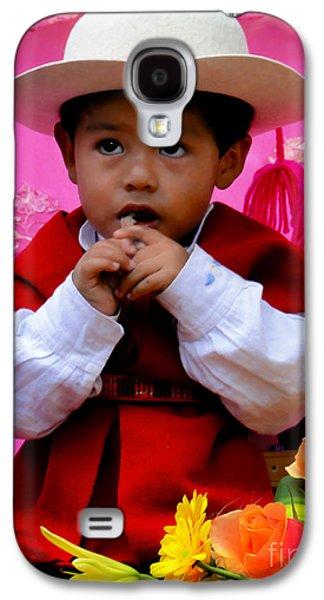 Smiling Jesus Galaxy S4 Cases - Cuenca Kids 429 Galaxy S4 Case by Al Bourassa
