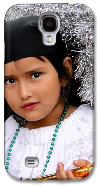 Smiling Jesus Galaxy S4 Cases - Cuenca Kids 438 Galaxy S4 Case by Al Bourassa