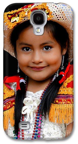 Smiling Jesus Galaxy S4 Cases - Cuenca Kids 447 Galaxy S4 Case by Al Bourassa