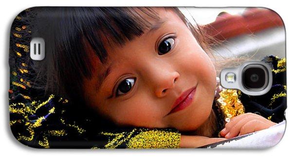 Smiling Jesus Galaxy S4 Cases - Cuenca Kids 451 Galaxy S4 Case by Al Bourassa