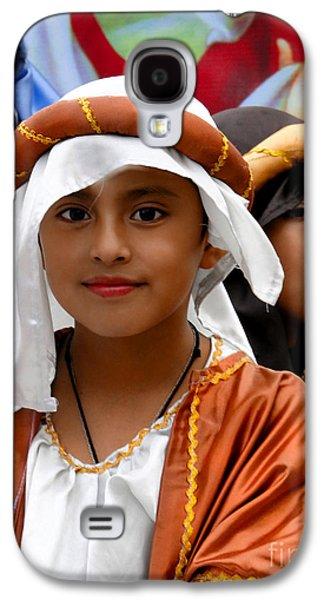 Smiling Jesus Galaxy S4 Cases - Cuenca Kids 464 Galaxy S4 Case by Al Bourassa