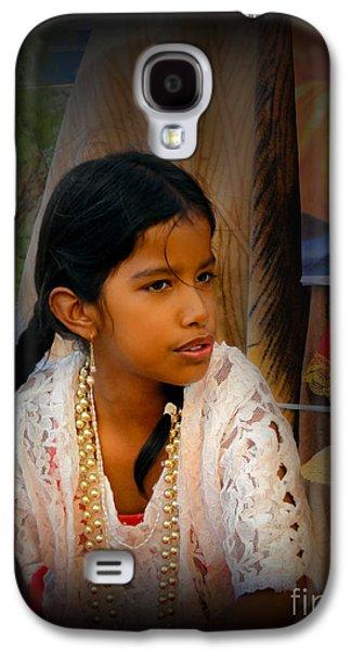 Smiling Jesus Galaxy S4 Cases - Cuenca Kids 551 Galaxy S4 Case by Al Bourassa