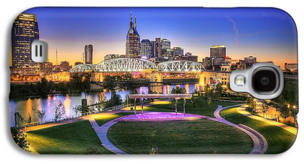 Cumberland Park And Nashville Skyline Galaxy S4 Case by Lucas Foley
