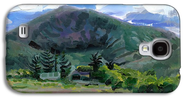 Catherine White Paintings Galaxy S4 Cases - Cumeen Mountain from Tularee Dingle on Irelands Wild Atlantic Way Galaxy S4 Case by Catherine Considine