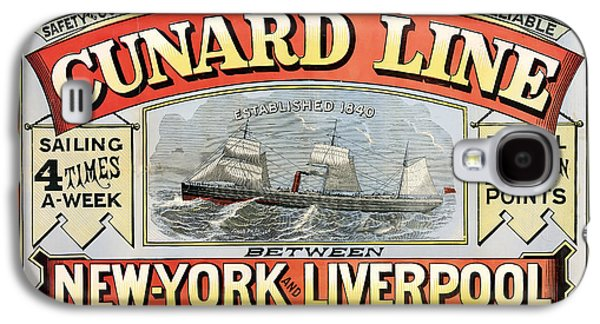 Business Drawings Galaxy S4 Cases - Cunard Line New York-Liverpool 1875 Galaxy S4 Case by Mountain Dreams