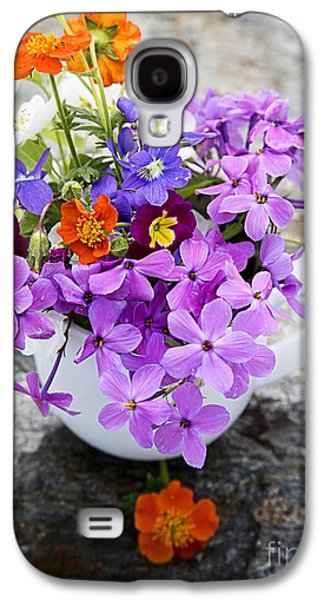 Cut Flowers Galaxy S4 Cases - Cup full of Wildflowers Galaxy S4 Case by Edward Fielding
