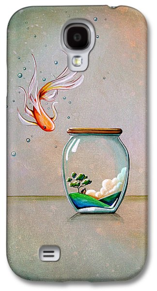 Water Jars Paintings Galaxy S4 Cases - Curiosity Galaxy S4 Case by Cindy Thornton
