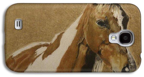 Original Art Pastels Galaxy S4 Cases - Curious Ketch Galaxy S4 Case by Jane Hazell