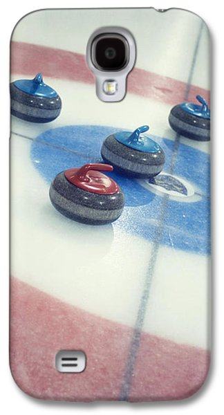 Sports Photographs Galaxy S4 Cases - Curling Stones Galaxy S4 Case by Priska Wettstein